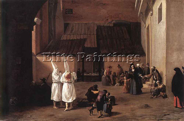 PIETER VAN LAER THE FLAGELLANTS ARTIST PAINTING REPRODUCTION HANDMADE OIL CANVAS