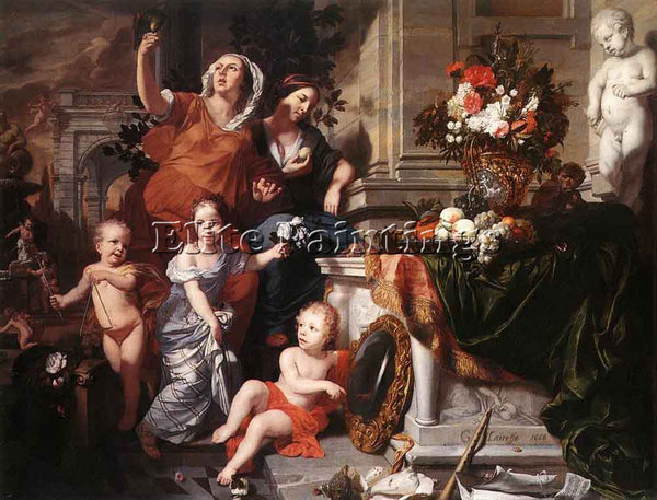 GERARD DE LAIRESSE  ALLEGORY OF THE FIVE SENSES ARTIST PAINTING REPRODUCTION OIL