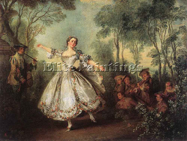 NICOLAS LANCRET MADEMOISELLE DE CAMARGO DANCING ARTIST PAINTING REPRODUCTION OIL