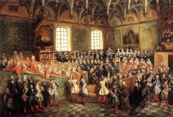 NICOLAS LANCRET THE SEAT OF JUSTICE IN THE PARLIAMENT OF PARIS IN 1723 PAINTING