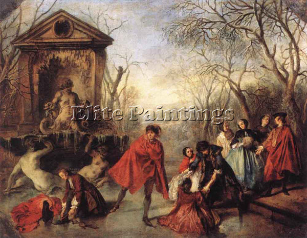 NICOLAS LANCRET WINTER ARTIST PAINTING REPRODUCTION HANDMADE CANVAS REPRO WALL