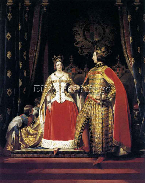 SIR EDWIN HENRY LANDSEER QUEEN VICTORIA AND PRINCE ALBERT AT BAL COSTUME ARTIST