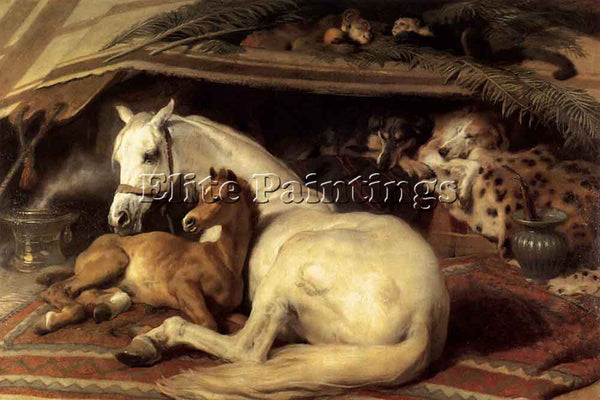 SIR EDWIN HENRY LANDSEER THE ARAB TENT ARTIST PAINTING REPRODUCTION HANDMADE OIL