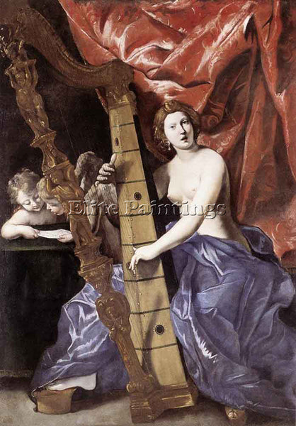 GIOVANNI LANFRANCO ALLEGORY OF MUSIC ARTIST PAINTING REPRODUCTION HANDMADE OIL