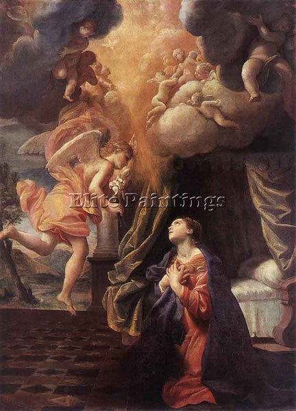 GIOVANNI LANFRANCO THE ANNUNCIATION ARTIST PAINTING REPRODUCTION HANDMADE OIL