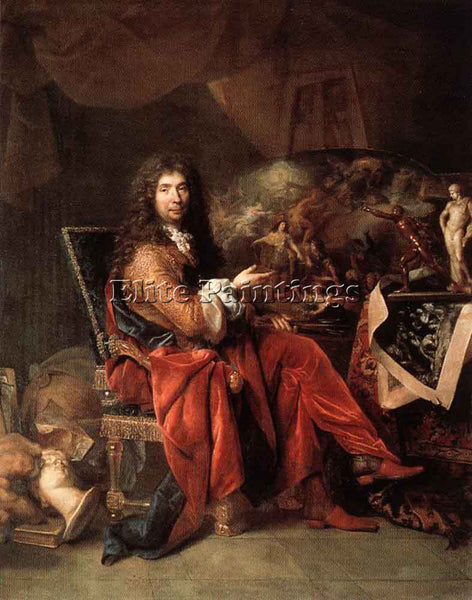 NICOLAS DE LARGILLIERE PORTRAIT OF CHARLES LE BRUN ARTIST PAINTING REPRODUCTION