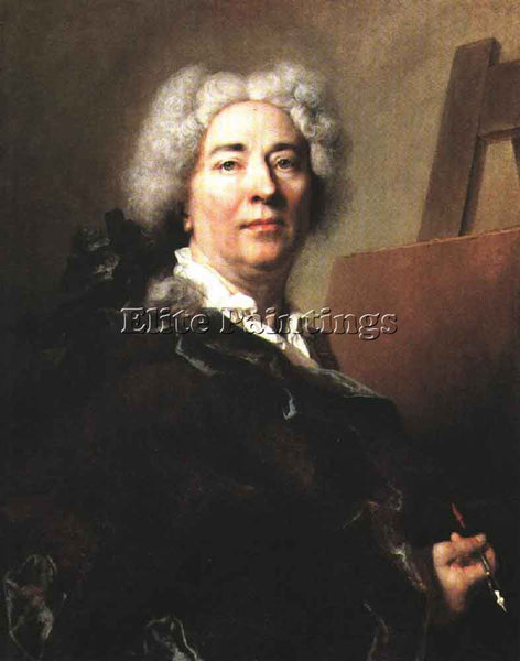 NICOLAS DE LARGILLIERE SELF PORTRAIT ARTIST PAINTING REPRODUCTION HANDMADE OIL