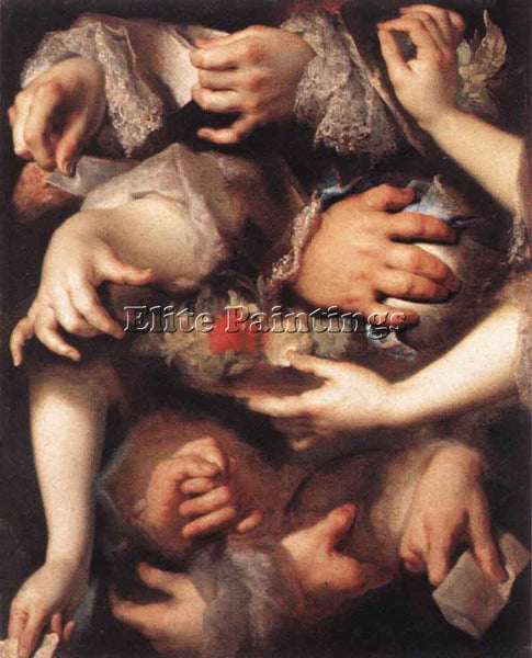 NICOLAS DE LARGILLIERE STUDY OF HANDS ARTIST PAINTING REPRODUCTION HANDMADE OIL
