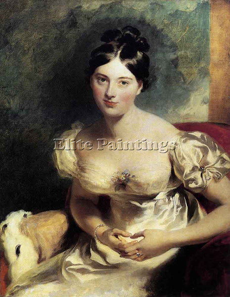SIR THOMAS LAWRENCE MARGARET COUNTESS OF BLESSINGTON ARTIST PAINTING HANDMADE