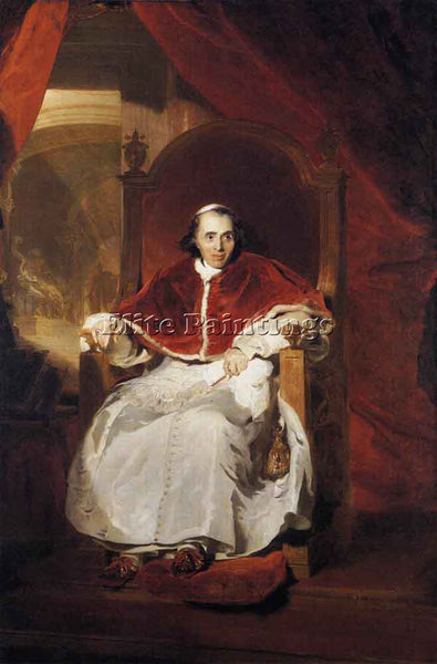 SIR THOMAS LAWRENCE POPE PIUS VII ARTIST PAINTING REPRODUCTION HANDMADE OIL DECO
