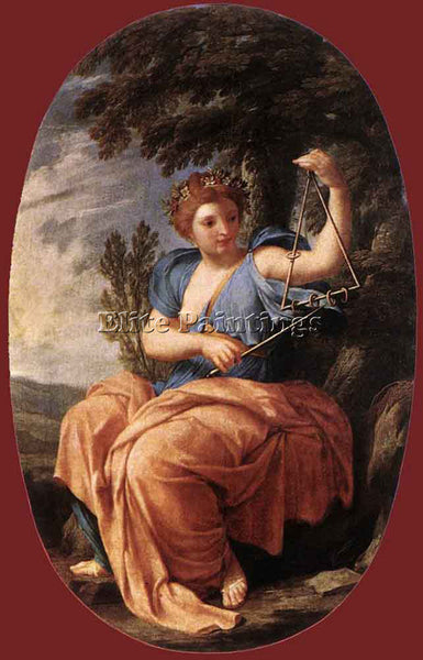 EUSTACHE LE SUEUR THE MUSE TERPSICHORE ARTIST PAINTING REPRODUCTION HANDMADE OIL