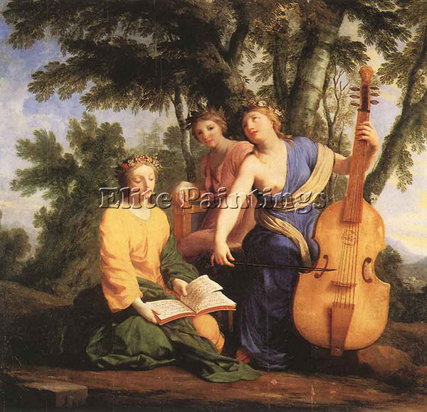 EUSTACHE LE SUEUR THE MUSES MELPOMENE ERATO AND POLYMNIA ARTIST PAINTING CANVAS