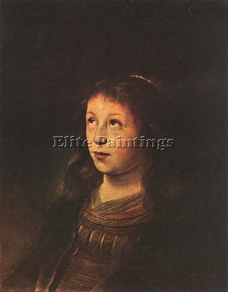 JAN LIEVENS  PORTRAIT OF A GIRL ARTIST PAINTING REPRODUCTION HANDMADE OIL CANVAS