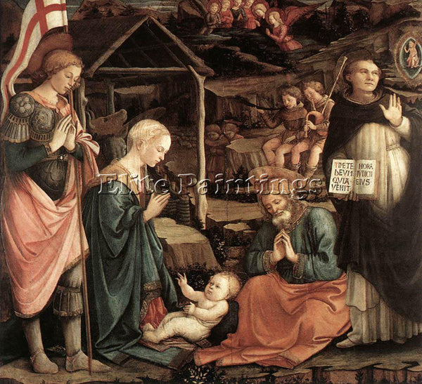 FRA FILIPPO LIPPI ADORATION OF THE CHILD WITH SAINTS 1460 65 ARTIST PAINTING OIL