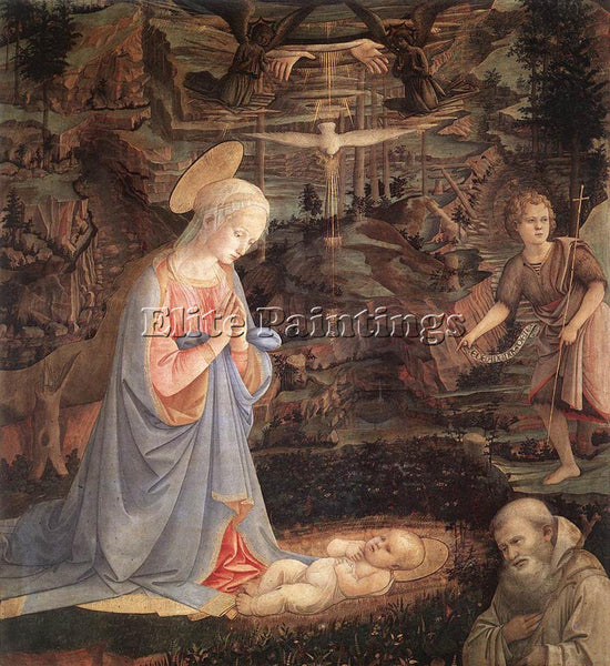FRA FILIPPO LIPPI ADORATION OF THE CHILD WITH SAINTS 1463 ARTIST PAINTING CANVAS