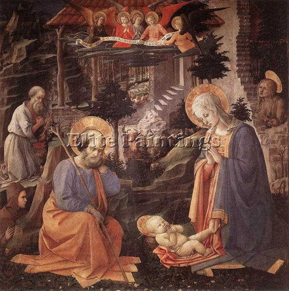 FRA FILIPPO LIPPI ADORATION OF THE CHILD ARTIST PAINTING REPRODUCTION HANDMADE