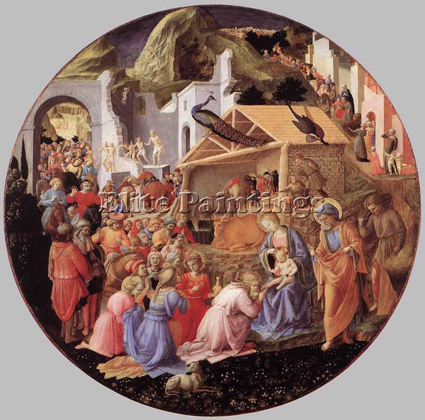 FRA FILIPPO LIPPI ADORATION OF THE MAGI ARTIST PAINTING REPRODUCTION HANDMADE