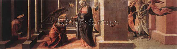FRA FILIPPO LIPPI ANNOUNCEMENT OF THE DEATH OF THE VIRGIN ARTIST PAINTING CANVAS