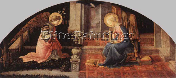 FRA FILIPPO LIPPI ANNUNCIATION 1445 50 2 ARTIST PAINTING REPRODUCTION HANDMADE