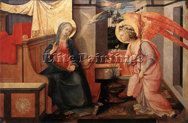 FRA FILIPPO LIPPI ANNUNCIATION 1445 50 ARTIST PAINTING REPRODUCTION HANDMADE OIL