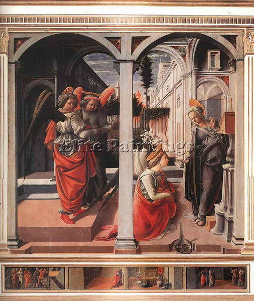FRA FILIPPO LIPPI ANNUNCIATION 1445 ARTIST PAINTING REPRODUCTION HANDMADE OIL