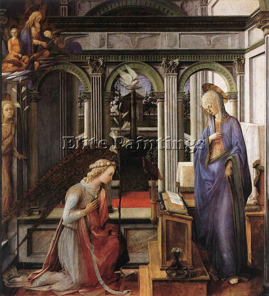 FRA FILIPPO LIPPI ANNUNCIATION ARTIST PAINTING REPRODUCTION HANDMADE OIL CANVAS