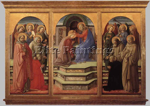 FRA FILIPPO LIPPI CORONATION OF THE VIRGIN 2 ARTIST PAINTING HANDMADE OIL CANVAS