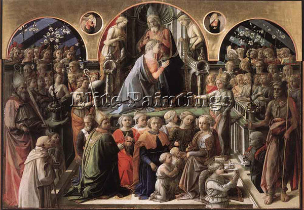 FRA FILIPPO LIPPI CORONATION OF THE VIRGIN ARTIST PAINTING REPRODUCTION HANDMADE