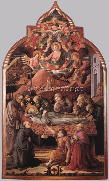 FRA FILIPPO LIPPI FUNERAL OF ST JEROME ARTIST PAINTING REPRODUCTION HANDMADE OIL