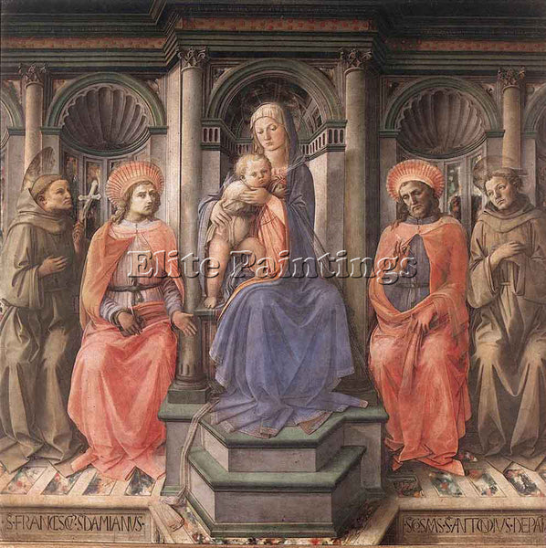 FRA FILIPPO LIPPI MADONNA ENTHRONED WITH SAINTS ARTIST PAINTING REPRODUCTION OIL