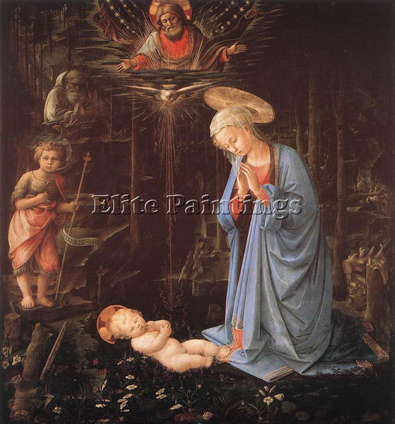 FRA FILIPPO LIPPI MADONNA IN THE FOREST ARTIST PAINTING REPRODUCTION HANDMADE