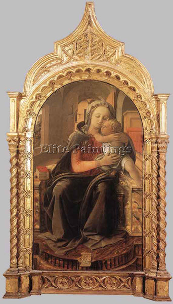 FRA FILIPPO LIPPI MADONNA WITH CHILD ARTIST PAINTING REPRODUCTION HANDMADE OIL