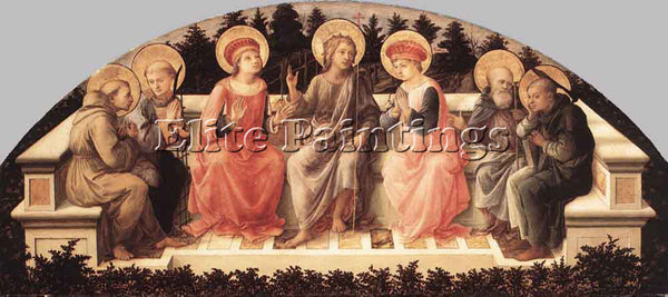 FRA FILIPPO LIPPI SEVEN SAINTS ARTIST PAINTING REPRODUCTION HANDMADE OIL CANVAS