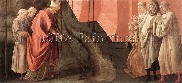 FRA FILIPPO LIPPI ST FREDIANUS DIVERTS THE RIVER SERCHIO ARTIST PAINTING CANVAS
