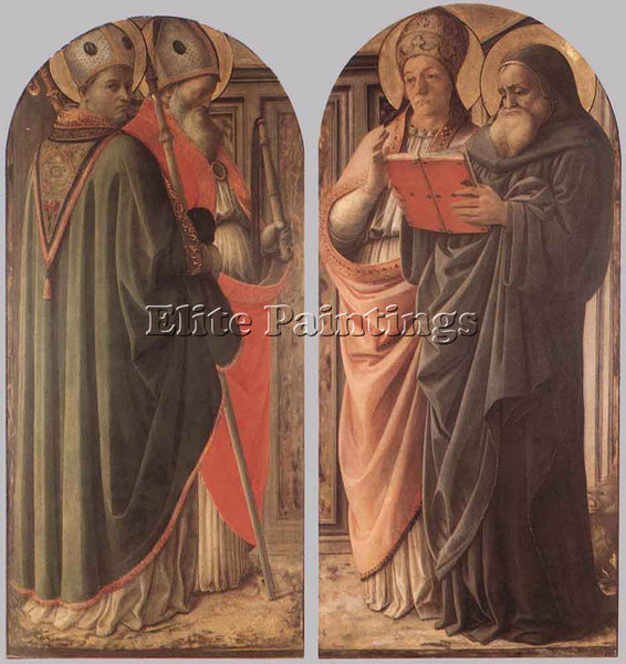 FRA FILIPPO LIPPI THE DOCTORS OF THE CHURCH ARTIST PAINTING HANDMADE OIL CANVAS