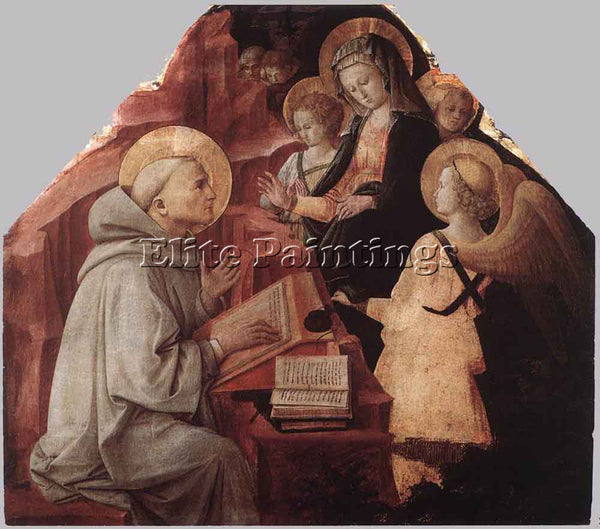 FRA FILIPPO LIPPI THE VIRGIN APPEARS TO ST BERNARD ARTIST PAINTING REPRODUCTION