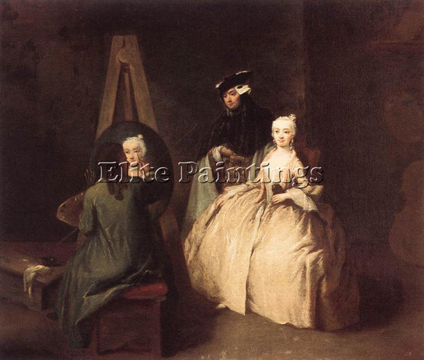 PIETRO LONGHI PAINTER IN HIS STUDIO ARTIST PAINTING REPRODUCTION HANDMADE OIL