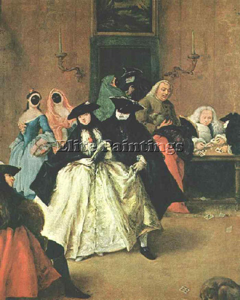PIETRO LONGHI THE RIDOTTO ARTIST PAINTING REPRODUCTION HANDMADE OIL CANVAS REPRO