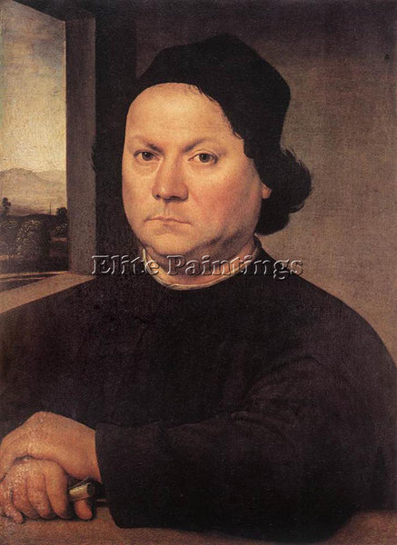 LORENZO DI CREDI PORTRAIT OF PERUGINO ARTIST PAINTING REPRODUCTION HANDMADE OIL