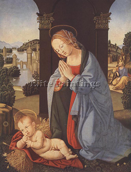 LORENZO DI CREDI THE HOLY FAMILY ARTIST PAINTING REPRODUCTION HANDMADE OIL REPRO