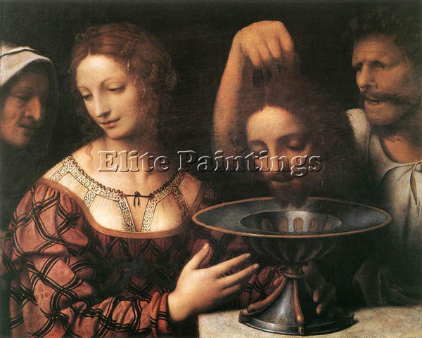 BERNARDINO LUINI HERODIAS ARTIST PAINTING REPRODUCTION HANDMADE OIL CANVAS REPRO