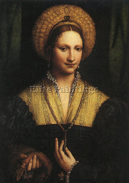 BERNARDINO LUINI PORTRAIT OF A LADY 1525 ARTIST PAINTING REPRODUCTION HANDMADE