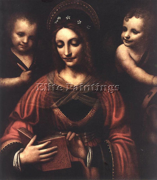 BERNARDINO LUINI SAINT CATHERINE ARTIST PAINTING REPRODUCTION HANDMADE OIL REPRO