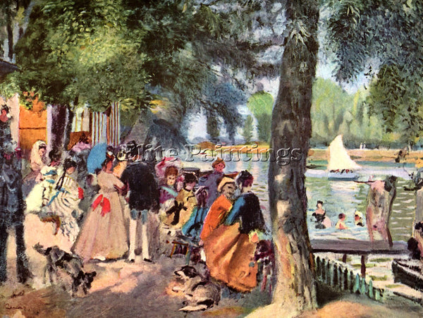 RENOIR LA GRENOUILLERE ARTIST PAINTING REPRODUCTION HANDMADE CANVAS REPRO WALL