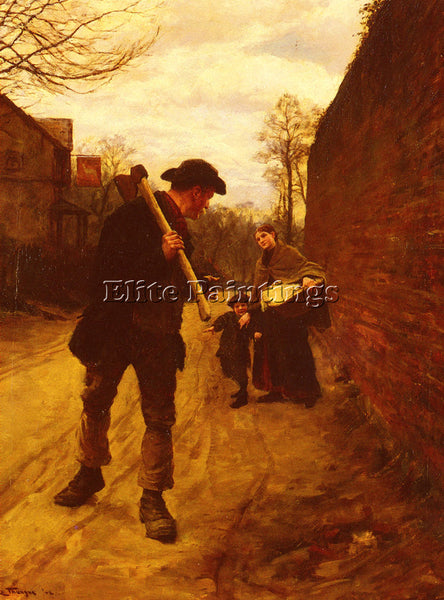 HENRY HERBERT LA THANGUE OFF TO WORK ARTIST PAINTING REPRODUCTION HANDMADE OIL