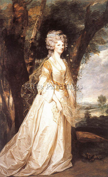 JOSHUA REYNOLDS LADY SUNDERLIN ARTIST PAINTING REPRODUCTION HANDMADE OIL CANVAS
