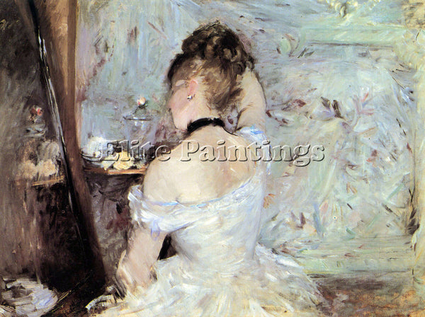 MORISOT LADY IN THE TOILET ARTIST PAINTING REPRODUCTION HANDMADE OIL CANVAS DECO