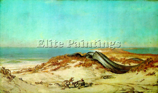VEDDER ELIHU LAIR OF THE SEA SERPENT 1 ARTIST PAINTING REPRODUCTION HANDMADE OIL