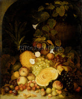 LANCE STILL LIFE PEACHES PLUMS STRAWBERRIES TROPICAL FRUITS ARCHITECTURAL NICHE