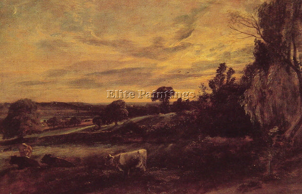 JOHN CONSTABLE LANDSCAPE EVENING ARTIST PAINTING REPRODUCTION HANDMADE OIL REPRO